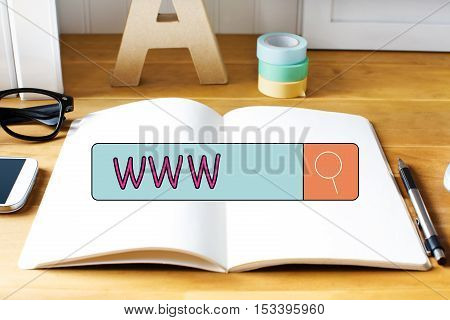 Www Concept With Notebook