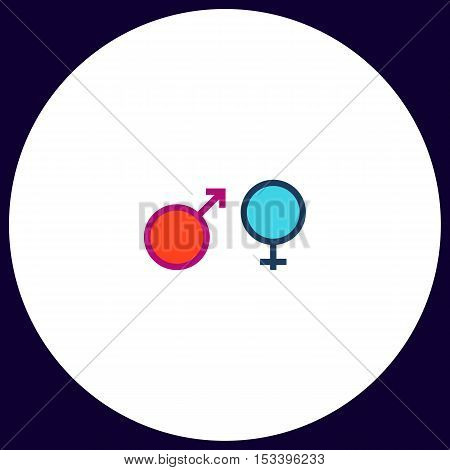 gender Simple vector button. Illustration symbol. Color flat icon