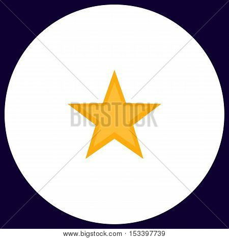 Clasic star Simple vector button. Illustration symbol. Color flat icon