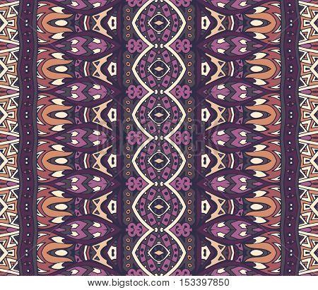 Tribal vintage ethnic seamless vector pattern ornamental