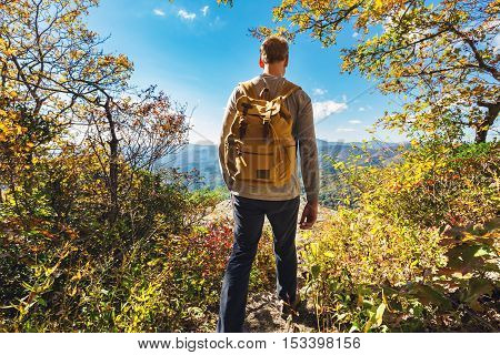 Man Walking On The Edge Of A Cliff