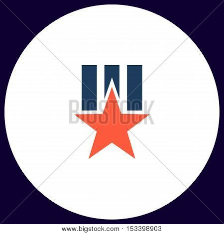 Order star Simple vector button. Illustration symbol. Color flat icon