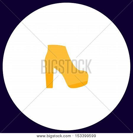 boot Simple vector button. Illustration symbol. Color flat icon