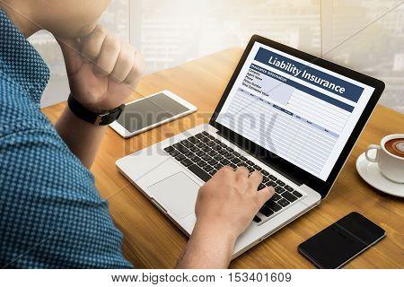 Form Document  Liability Insurance Money Risk