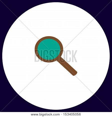 Search Simple vector button. Illustration symbol. Color flat icon
