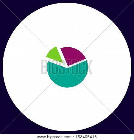 Diagram Simple vector button. Illustration symbol. Color flat icon