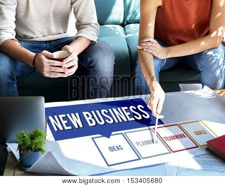 Business Box Words Diagram Concept