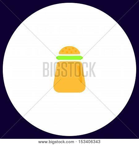 salt Simple vector button. Illustration symbol. Color flat icon