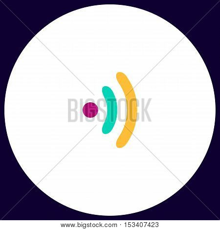 Wireless Simple vector button. Illustration symbol. Color flat icon