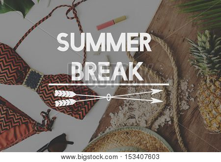 Travel Tropical Summer Youth Concept