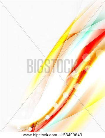 Blurred wave motion, vector background