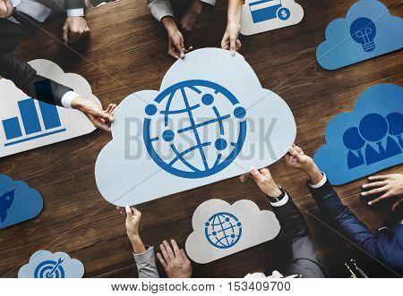 Cloud Words Online Technology Network Concept