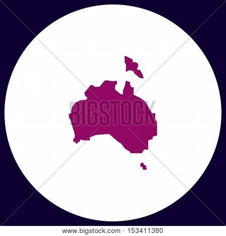 Australia Simple vector button. Illustration symbol. Color flat icon