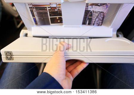 Unlocked White Passenger Airplane Table