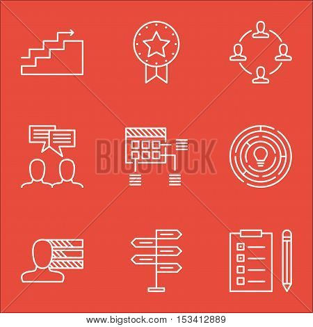 Set Of Project Management Icons On Opportunity, Schedule And Reminder Topics. Editable Vector Illust