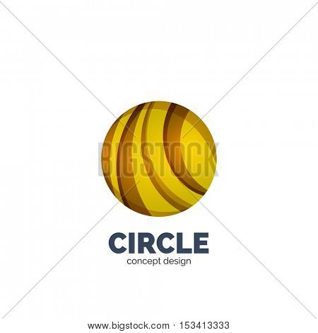 Vector abstract circle logo, business icon