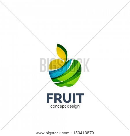 Vector apple fruit business icon design