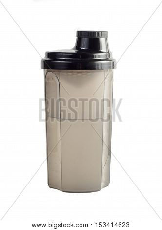 Plastic shaker isolated on a white background