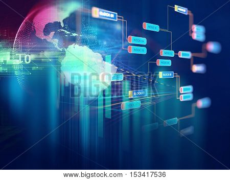 Big Data Futuristic Visualization Abstract Illustration