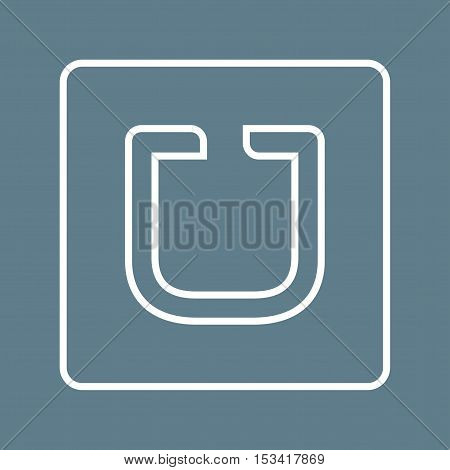 Uber, app, mobile icon vector image. Can also be used for social media logos. Suitable for mobile apps, web apps and print media.