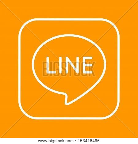 Line, logo, media icon vector image. Can also be used for social media logos. Suitable for mobile apps, web apps and print media.