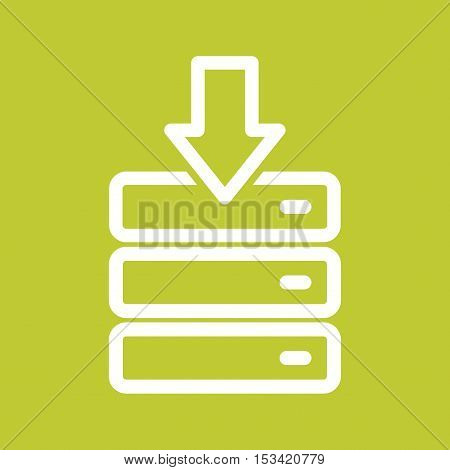 Download, file, folder icon vector image. Can also be used for software development. Suitable for mobile apps, web apps and print media.