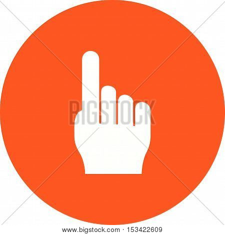 Cursor, fingers, right icon vector image. Can also be used for hand actions. Suitable for mobile apps, web apps and print media.