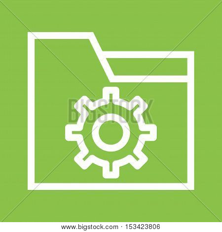 Folder, file, setting icon vector image. Can also be used for user interface. Suitable for mobile apps, web apps and print media.