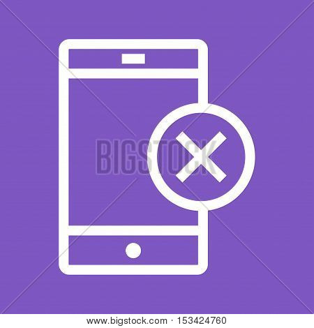 Approved, invalid, device icon vector image. Can also be used for user interface. Suitable for mobile apps, web apps and print media.