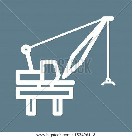 Crane, harbor, industry icon vector image. Can also be used for Industrial Process. Suitable for mobile apps, web apps and print media.