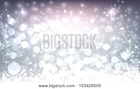 Violet luminous background. Vector illustration.