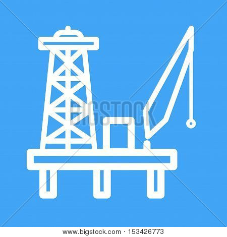 Oil, platform, energy icon vector image. Can also be used for Industrial Process. Suitable for mobile apps, web apps and print media.