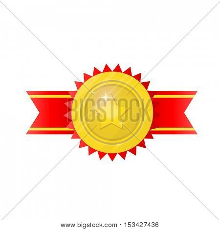 Award trophy for winners in competitions. Icon in flat style. Isolated illustrations