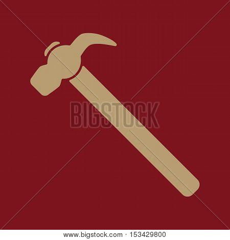 The hammer icon. Hammer symbol. Flat Vector illustration