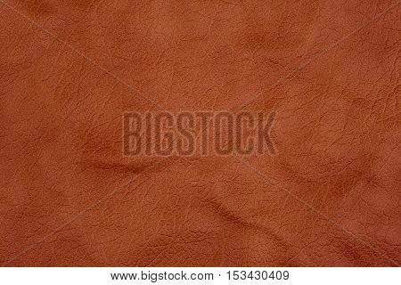 Natural brown leather texture. Abstract background, empty template.