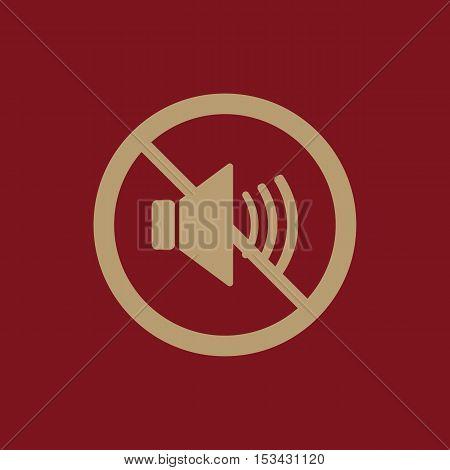 The no sound icon. Volume Off symbol. Flat Vector illustration