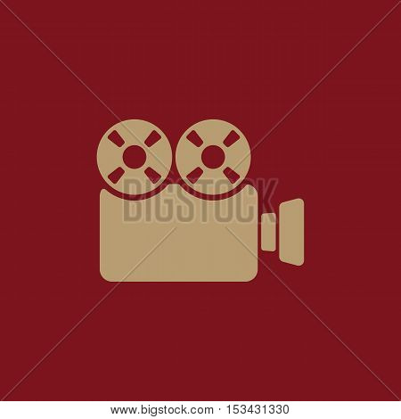 The video camera icon. Camcorder symbol. Flat Vector illustration