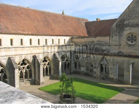 Cloister Of The Abbey, Noirlac, France