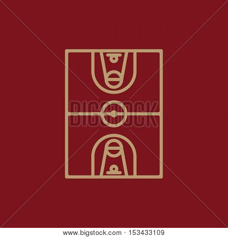 The basketball icon. Basketball symbol. Flat Vector illustration