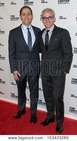 NEW YORK-APR 2: President of MTV and Logo, Stephen Friedman (L) and Jess Cagle attend the 2015 Center Dinner at Cipriani Wall Street on April 2, 2015 in New York City,