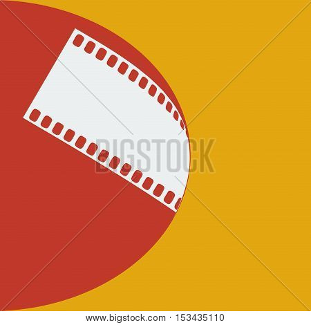 Vector sign film strip photographer in red and orange
