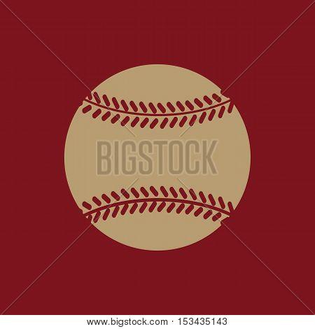 The baseball icon. Game symbol. Flat Vector illustration