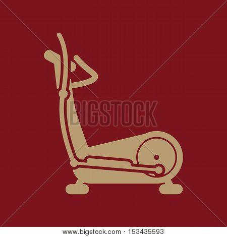 The elliptical trainer icon. Bike symbol. Flat Vector illustration