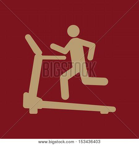 Cross trainer machine icon. Running symbol. Flat Vector illustration