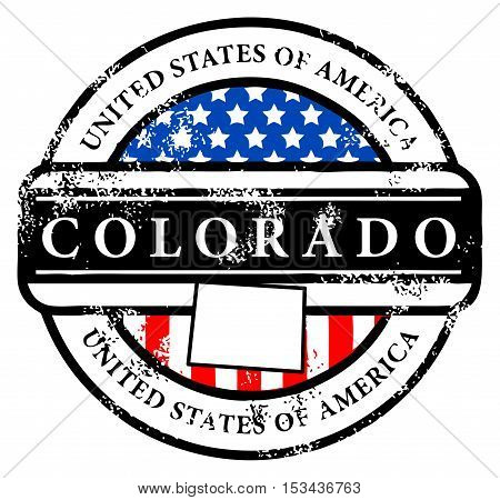 Grunge rubber stamp with name of Colorado, vector illustration