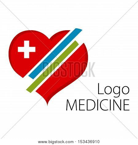 Heart symbol. beautiful logo for healthcare facilities