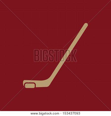 Hockey icon. Game symbol. Flat Vector illustration
