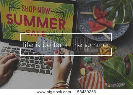 Summer Holiday Season Sunny Travel Vacation Concept