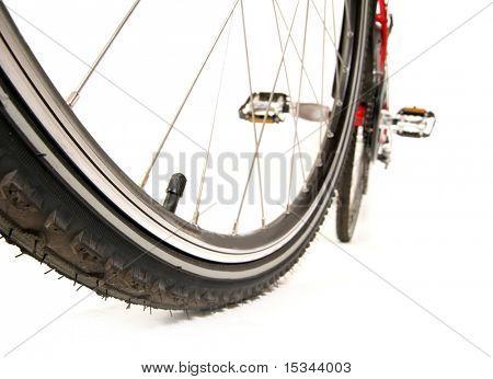 Rennrad auf weiß