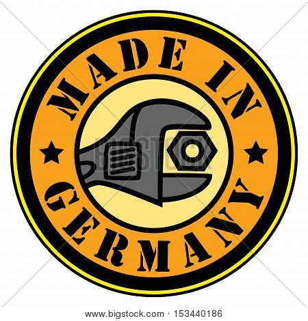 Made in Germany color stamp or label, vector illustration